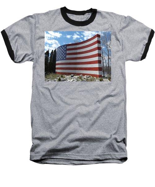 Brick American Flag Baseball T-Shirt
