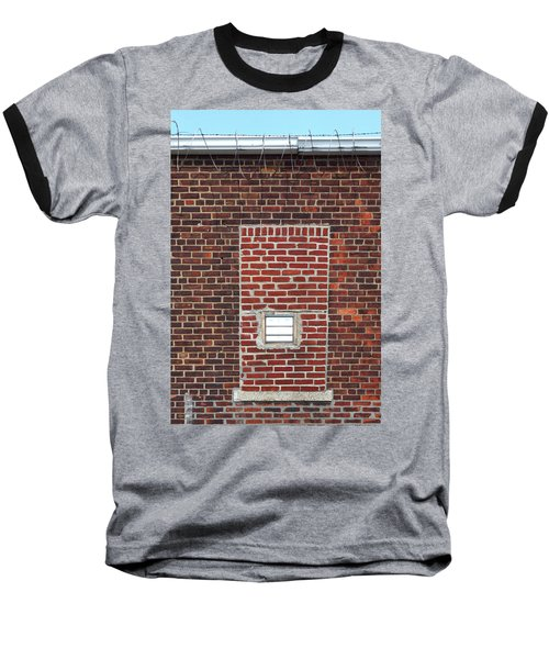 Brick And Barbed Wire Baseball T-Shirt