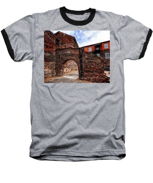 Baseball T-Shirt featuring the photograph Brick Arch by Alan Raasch