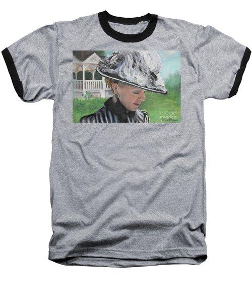 Baseball T-Shirt featuring the pastel Brick City Days by Robin Maria Pedrero