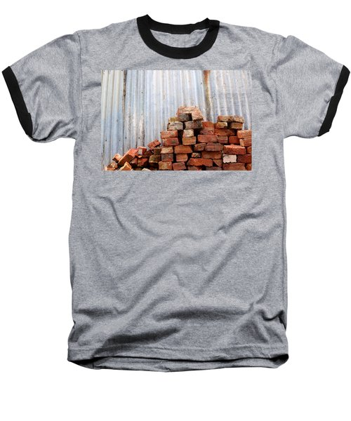 Baseball T-Shirt featuring the photograph Brick Piled by Stephen Mitchell