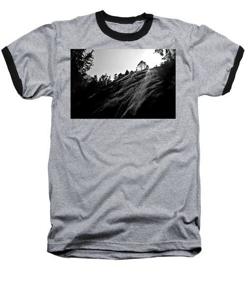 Bridal Veil Falls In Black And White Baseball T-Shirt