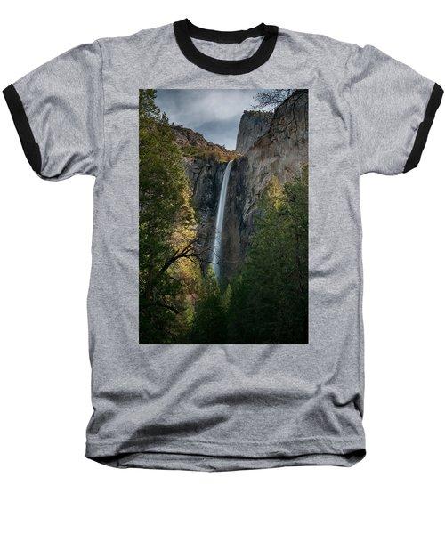 Bridal Veil Falls Baseball T-Shirt by Ralph Vazquez