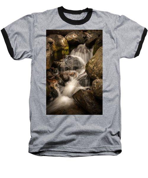 Bridal Veil Water Baseball T-Shirt by Ralph Vazquez