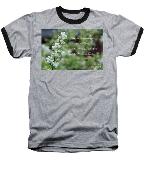 Bridal Wreath Christian Art Baseball T-Shirt by Ella Kaye Dickey