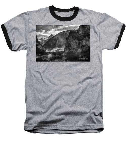 Bridalvail Falls And Half Dome Baseball T-Shirt