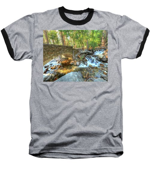 Bridalveil Creek At Yosemite By Michael Tidwell Baseball T-Shirt