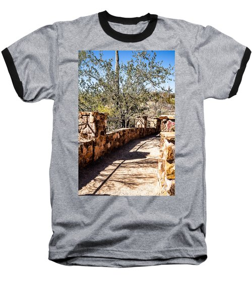 Bridge Over Desert Wash Baseball T-Shirt by Lawrence Burry