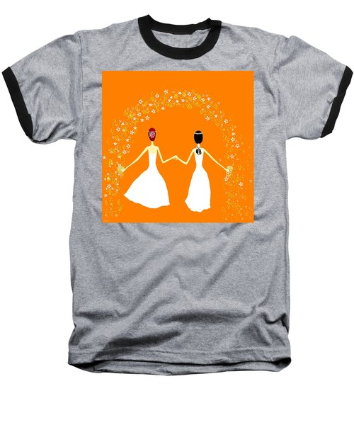 Baseball T-Shirt featuring the digital art Brides by Barbara Moignard