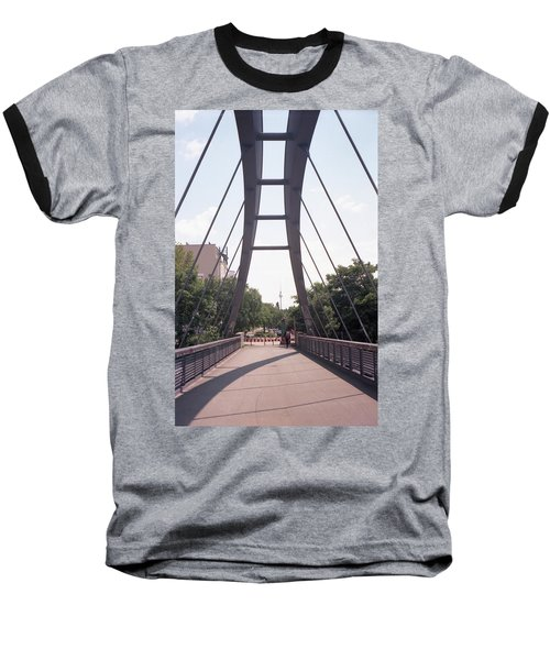 Bridge And Alexanderplatz Tower Baseball T-Shirt