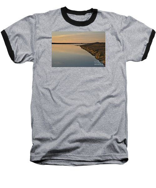 Bridge And Ria At Sunset In Quinta Do Lago Baseball T-Shirt by Angelo DeVal