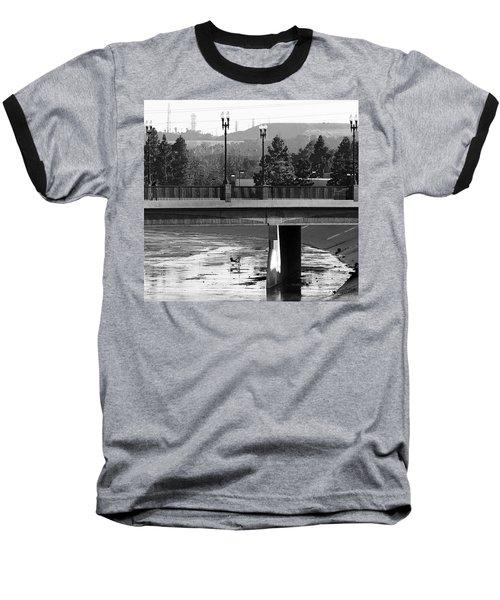 Bridge And Shopping Cart Baseball T-Shirt