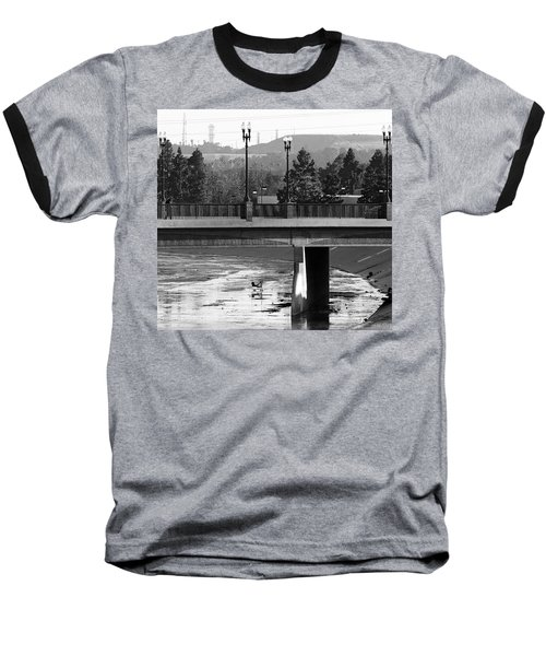 Bridge And Shopping Cart Baseball T-Shirt