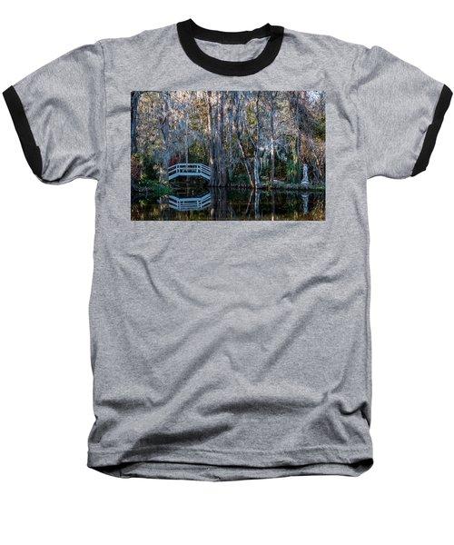 Bridge And Statue At Magnolia Plantation Gardens Baseball T-Shirt