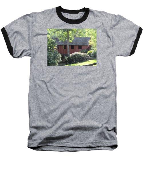 Bridge At Pont Rouge Farm Baseball T-Shirt by Charlotte Gray