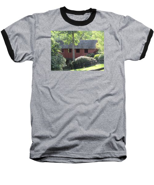 Bridge At Pont Rouge Farm Baseball T-Shirt