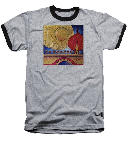 Baseball T-Shirt featuring the painting Bridge Between Sunrise And Moonrise by Anna Ewa Miarczynska