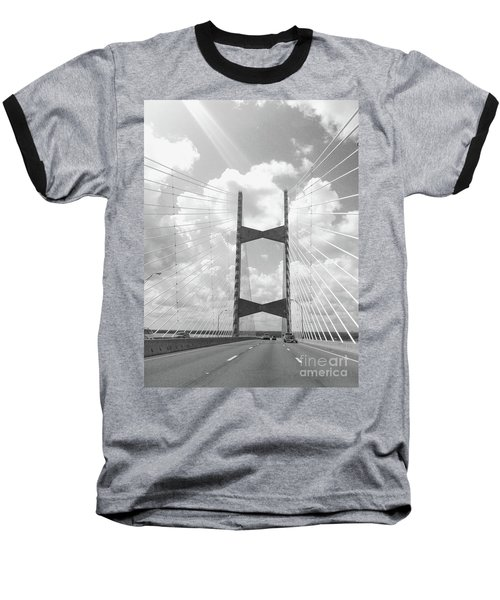 Bridge Clouds Baseball T-Shirt