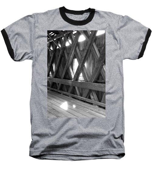 Baseball T-Shirt featuring the photograph Bridge Glow by Greg Fortier