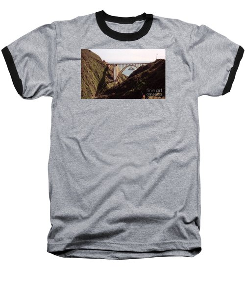 Bridge Highway 1 Coastal Road Baseball T-Shirt by Ted Pollard