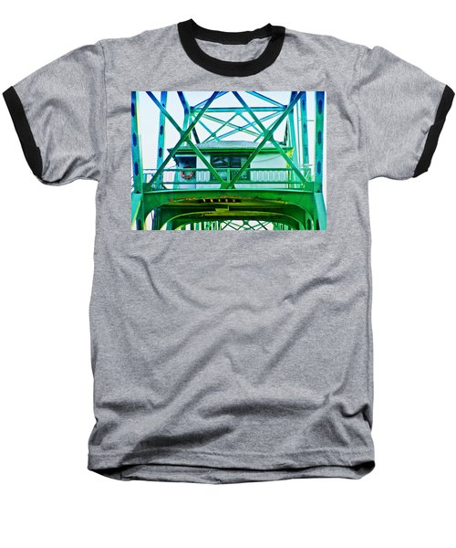 Baseball T-Shirt featuring the photograph Bridge House by Adria Trail