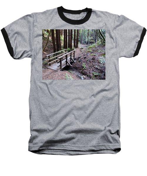 Bridge In The Redwoods Baseball T-Shirt