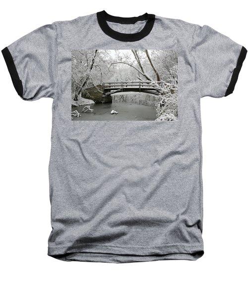 Bridge In Winter Baseball T-Shirt