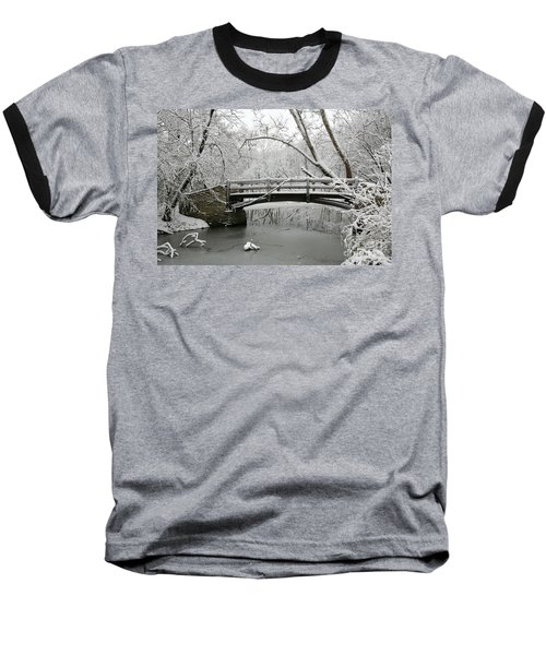 Bridge In Winter Baseball T-Shirt