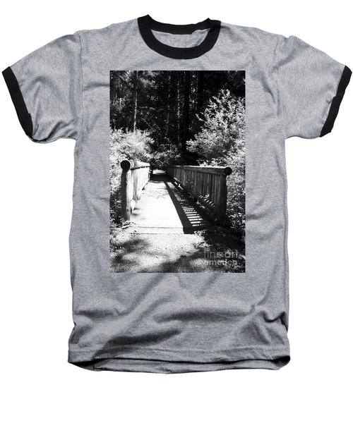 Baseball T-Shirt featuring the photograph Bridge In Woods by Yulia Kazansky