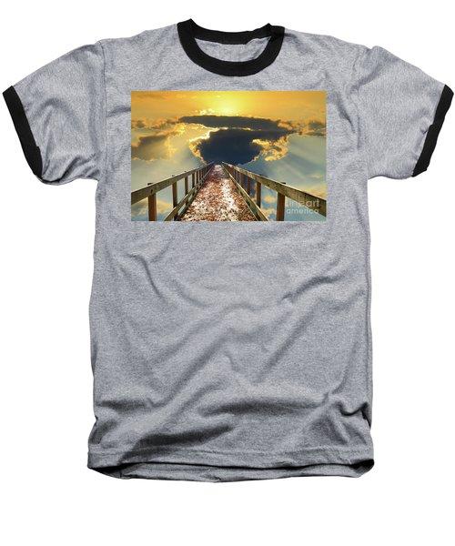 Bridge Into Sunset Baseball T-Shirt by Inspirational Photo Creations Audrey Woods