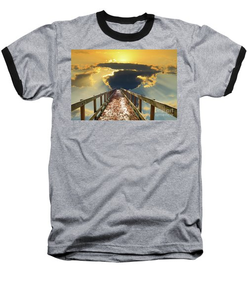 Bridge Into Sunset Baseball T-Shirt