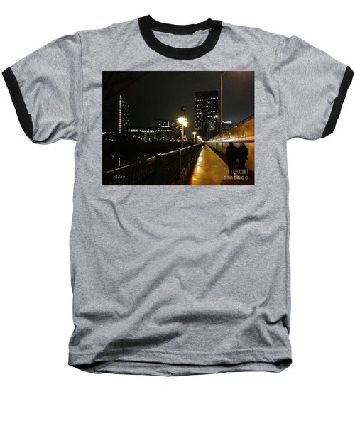 Bridge Into The Night Baseball T-Shirt by Felipe Adan Lerma