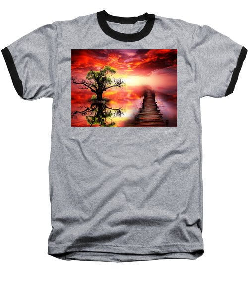 Bridge Into The Unknown Baseball T-Shirt