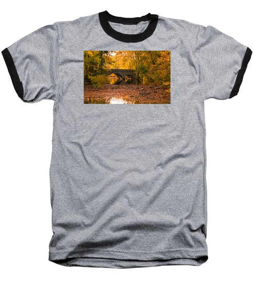 Bridge Of Gold Baseball T-Shirt by Cathy Donohoue