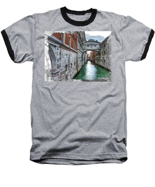 Baseball T-Shirt featuring the photograph Bridge Of Sighs by Tom Cameron