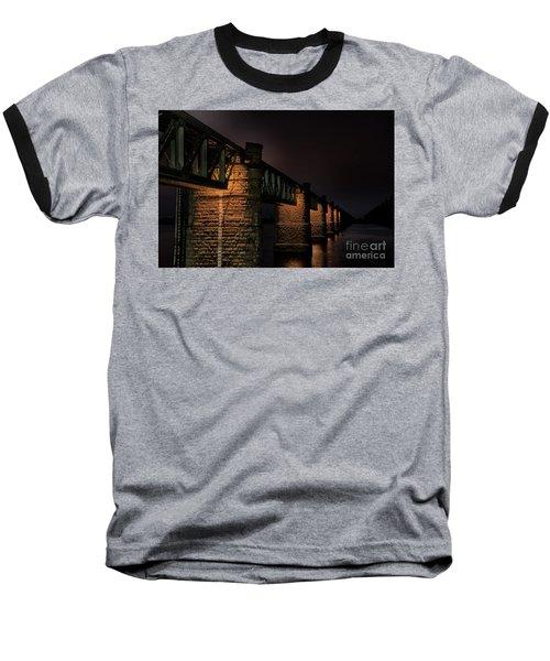 Bridge On Holy River Godavari Baseball T-Shirt by Kiran Joshi