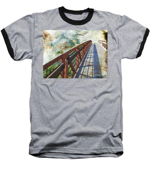 Bridge Over Clouds Baseball T-Shirt by Deborah Nakano