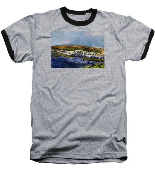 Bridge Over The Marsh Baseball T-Shirt