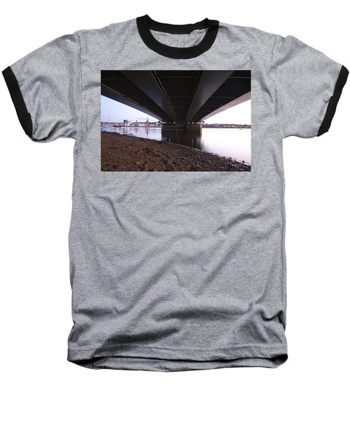 Baseball T-Shirt featuring the photograph Bridge Over Wexford Harbour by Ian Middleton