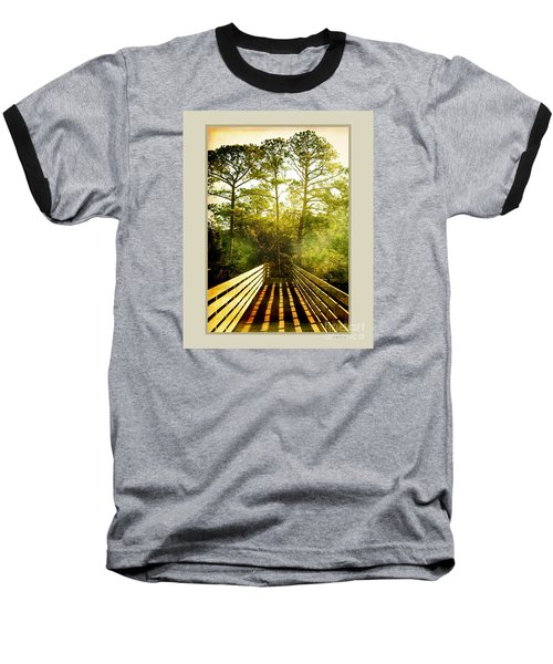 Baseball T-Shirt featuring the photograph Bridge Shadows by Linda Olsen