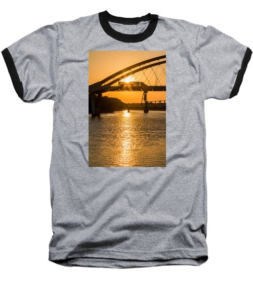Bridge Sunrise 2 Baseball T-Shirt by Patti Deters