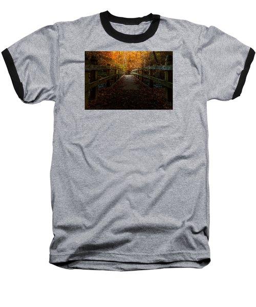 Bridge To Enlightenment Baseball T-Shirt by Ed Clark