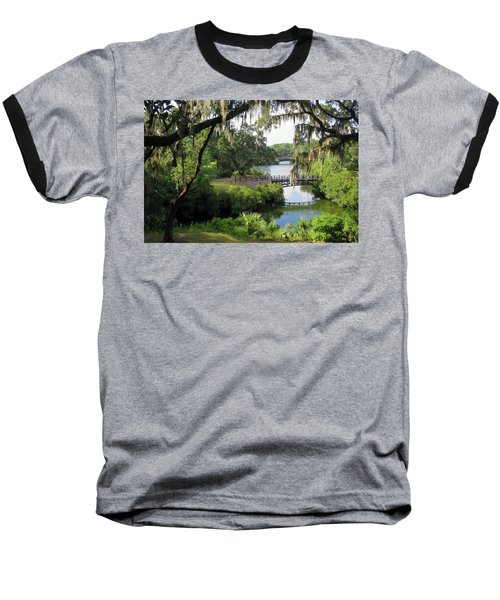 Bridges Over Tranquil Waters Baseball T-Shirt
