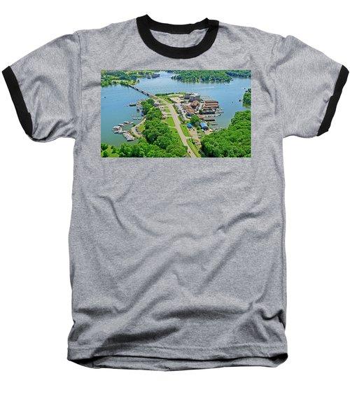 Bridgewater Plaza Aerial Baseball T-Shirt