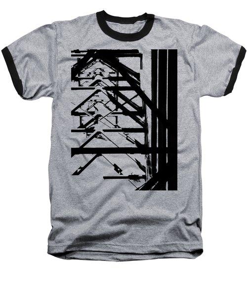 Bridgework Girding Baseball T-Shirt by David Andersen