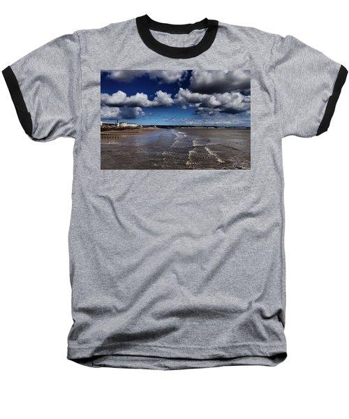 Bridlington Coastline Baseball T-Shirt