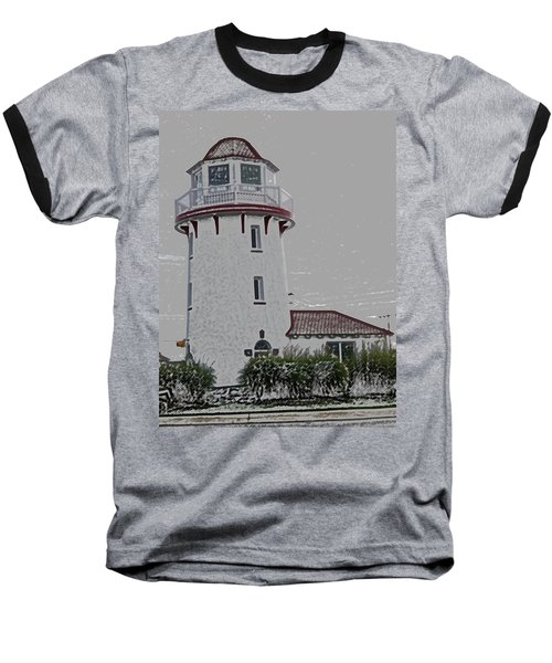 Brigantine Lighthouse Baseball T-Shirt