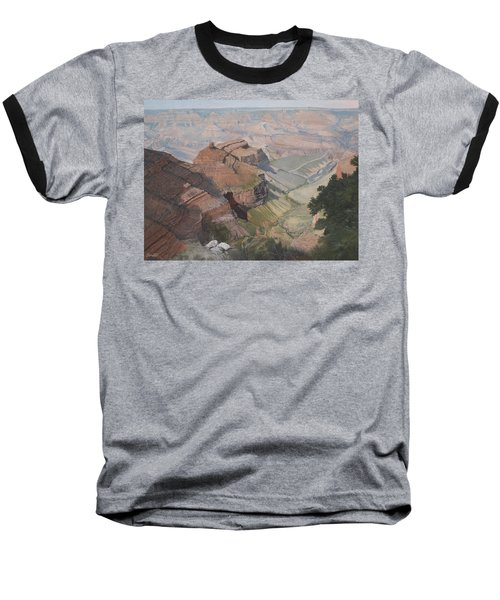 Bright Angel Trail Looking North To Plateau Point, Grand Canyon Baseball T-Shirt