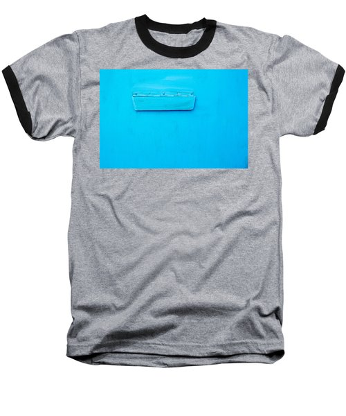 Baseball T-Shirt featuring the photograph Bright Blue Paint On Metal With Postbox by John Williams