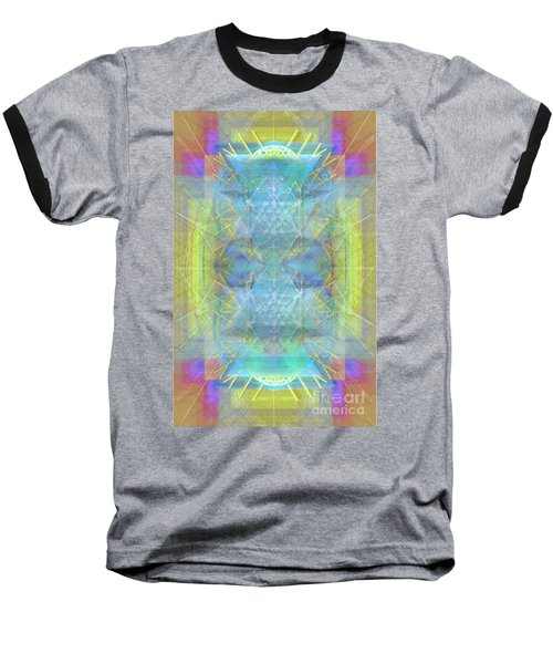 Bright Chalice Ancient Symbol Tapestry Baseball T-Shirt by Christopher Pringer
